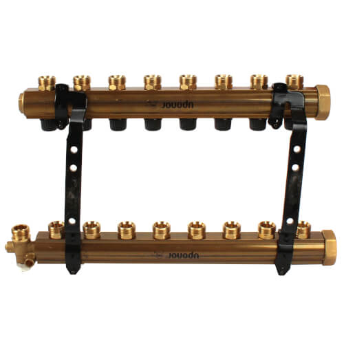 TruFLOW Jr. Manifold Assembly with Balancing Valves & Valveless, 8 Loop S&R Product Image