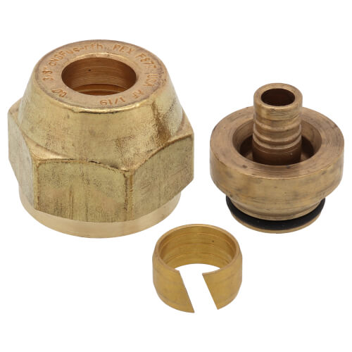 "3/8"" QS-style Fitting Assembly, R20 thread Product Image"
