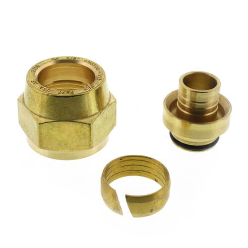 "5/8"" QS-style Fitting Assembly, R20 thread Product Image"
