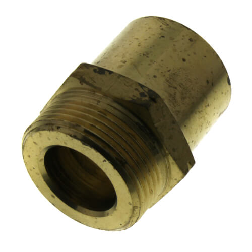 """R32 x 1-1/4"""" Pipe (or 1-1/2"""" Fitting) Copper Adapter, Straight Product Image"""