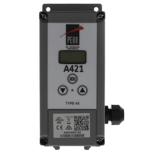"""Single Stage Digital Temperature Control w/ 6 Ft. 7-1/5"""" Leads (24v, SPDT) Product Image"""