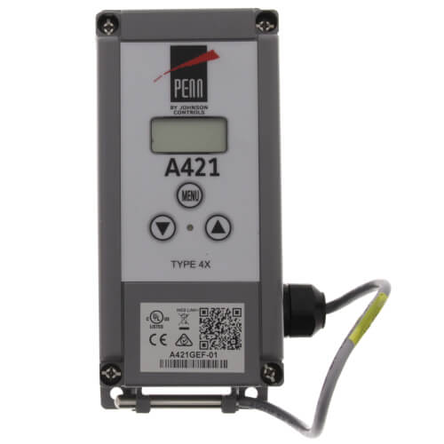 "Single Stage Digital Temperature Control w/ 9-7/8"" Leads (24v, SPDT) Product Image"