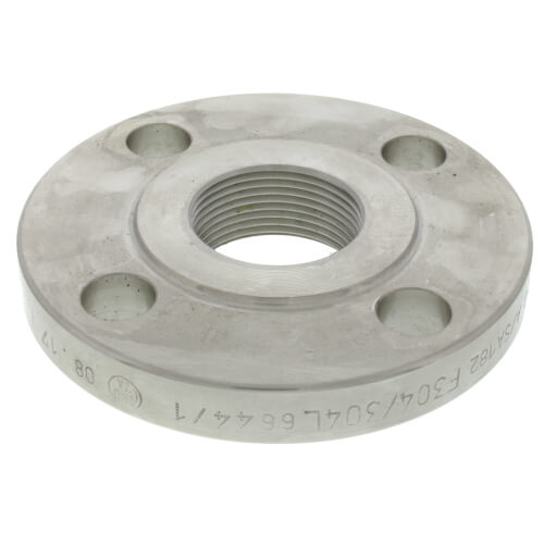 """1-1/4"""" Stainless Steel ANSI RF Threaded Flange Product Image"""