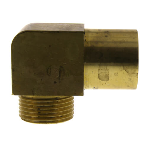 "QS-style Baseboard Elbow, R20 x 3/4"" Copper Adapter Product Image"