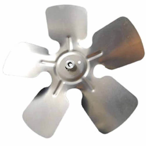 "7"" Aluminum 5 Blade CCW, 1/4"" Bore, Hub on Intake Fan Blade Product Image"
