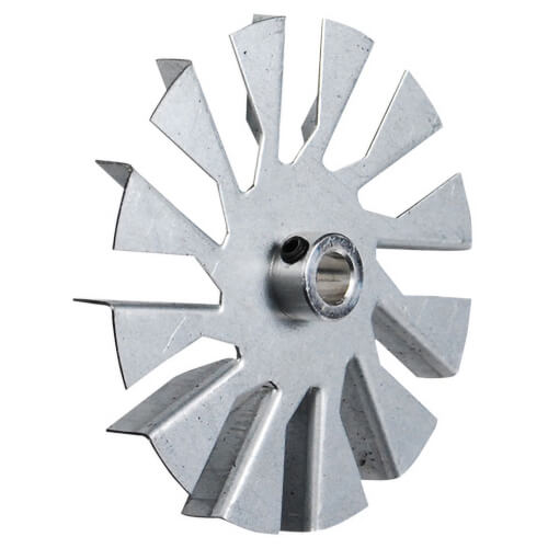 "3-1/4"" Aluminum 12 Blade CW Fan Blade, 5/16"" Bore (w/ Hub) Product Image"