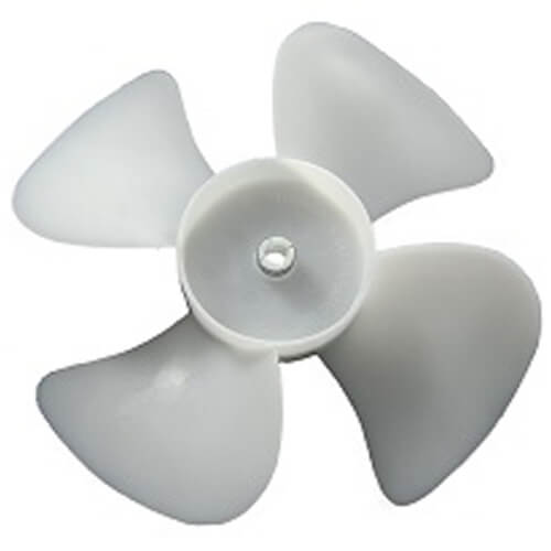 "2-1/2"" Plastic 4 Blade CW Fan Blade, 3/16"" Bore Product Image"