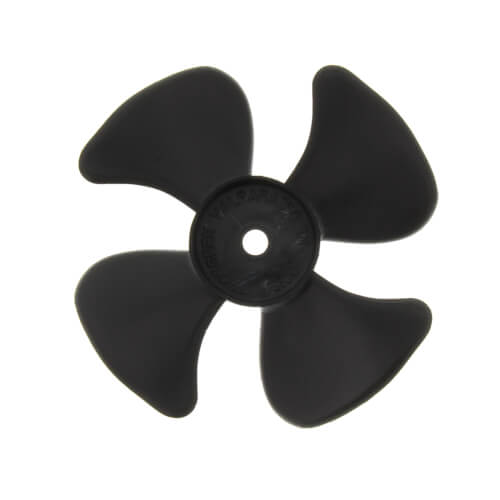 "3"" Plastic 4 Blade CW Fan Blade, 3/16"" Bore Product Image"