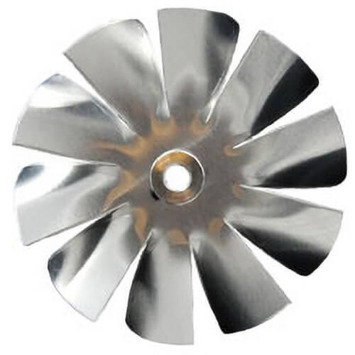 "4-1/2"" Aluminum 10 Blade CW Intake Hub Fan Blade Product Image"