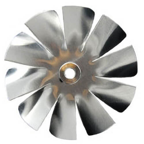 "5"" Aluminum 10 Blade, 1/4"" Bore CW Intake Hub Fan Blade Product Image"