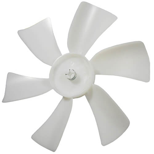 """6"""" Plastic 6 Blade CW Fan Blade, 3/16"""" Bore Product Image"""