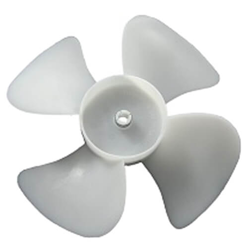 """6"""" Plastic 4 Blade CW Fan Blade, 1/4"""" Bore Product Image"""