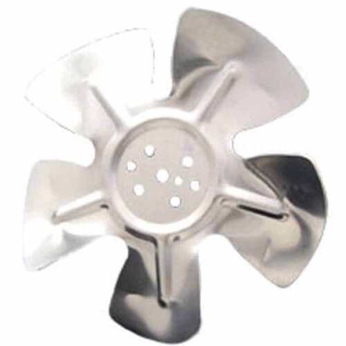 """8-3/4"""" Aluminum 5 Blade CW Hubless Fan Blade Product Image"""