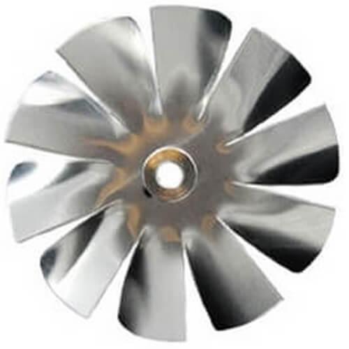 "3"" Aluminum 10 Blade, 1/4"" Bore CW Intake Hub Fan Blade Product Image"