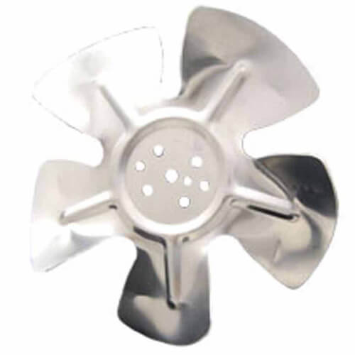 """6"""" Aluminum 5 Blade CW Hubless Fan Blade Product Image"""
