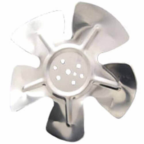 """6"""" Aluminum 5 Blade CCW Hubless Fan Blade Product Image"""