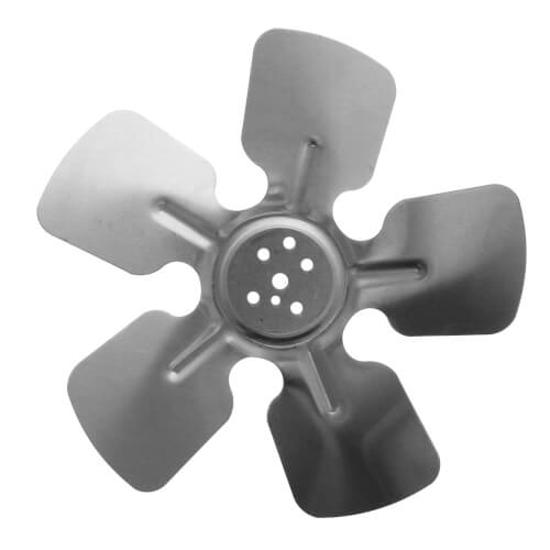 "8"" Aluminum 5 Blade CW Hubless Fan Blade Product Image"
