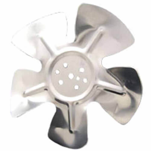 """8"""" Aluminum 5 Blade CCW Hubless Fan Blade Product Image"""