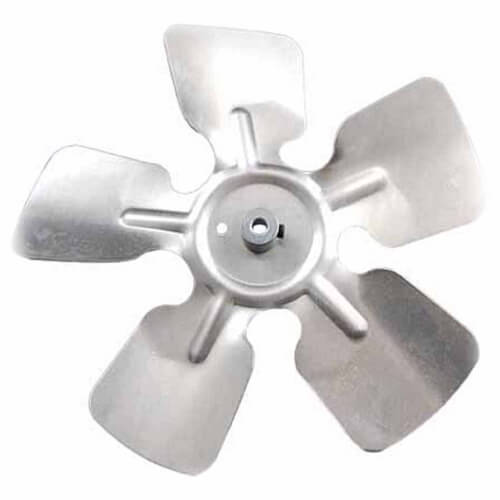 "8"" Aluminum 5 Blade CCW Fan Blade, 5/16"" Bore (w/ Hub) Product Image"