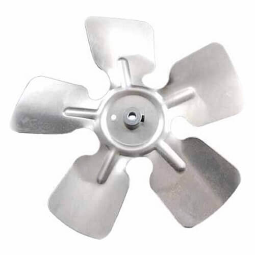 "9"" Aluminum 5 Blade CW Fan Blade, 1/4"" Bore (w/ Hub) Product Image"