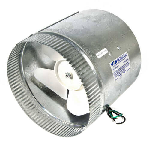 """8"""" Air Boosters for Round Metal Duct or Flex Duct (up to 425 CFM) Product Image"""