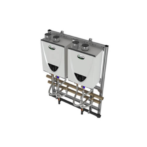 398,000 BTU Commercial Indoor Tankless Rack System - Wall Mount (NG) Product Image