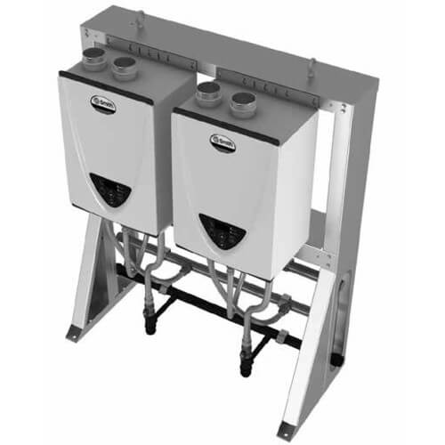 398,000 BTU Commercial Indoor Tankless Rack System - Free-Standing In-Line (NG) Product Image
