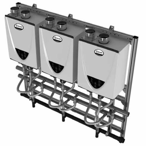 597,000 BTU Commercial Indoor Tankless Rack System - Wall Mount (NG) Product Image