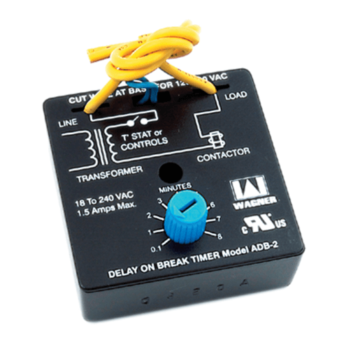 Adjustable Delay on Break Timer w/ Terminal Leads (6 Sec. to 8 Min.) Product Image