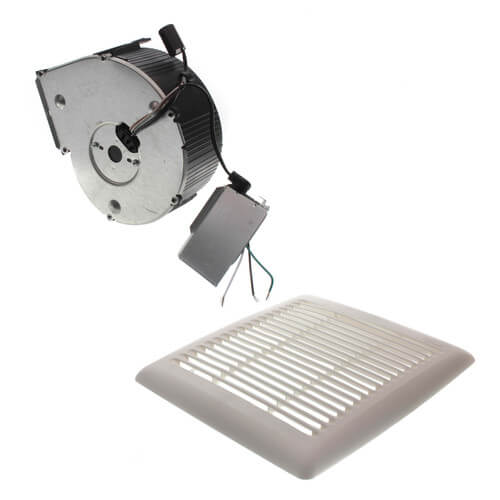 Flex Series Fan Finish Pack w/ White Grille (80 CFM, 1.5 Sones) Product Image