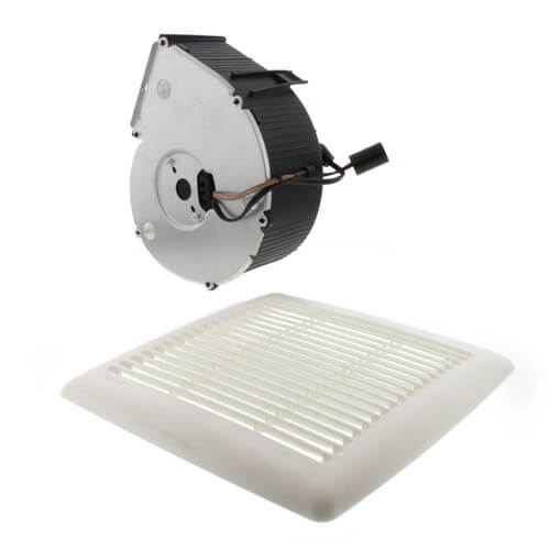 Flex Series Fan Finish Pack w/ White Grille, No Light (80 CFM, 0.8 Sones) Product Image