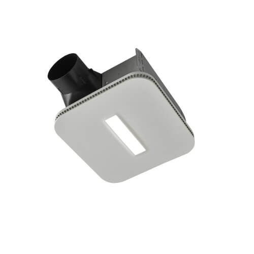 Flex Series Ceiling Bathroom Exhaust Fan w/ CleanCover Grille & Led Light, Energy Star (80 CFM, 0.8 Sones) Product Image