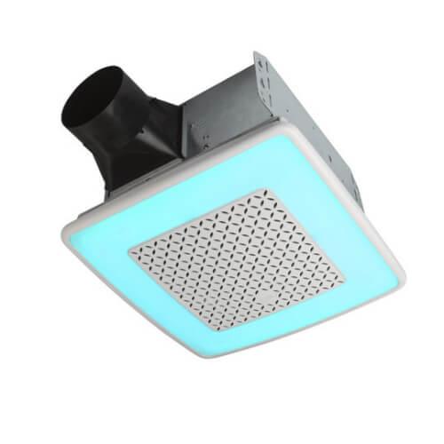 Model AER110RGBL ChromaComfort Ventilation Fan w/ Multicolor LED Light (110 CFM) Product Image