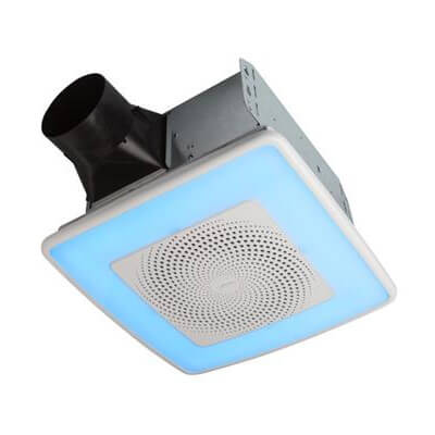 Model AERN110RGBL ChromaComfort Ventilation Fan w/ Multicolor LED Light (110 CFM) Product Image