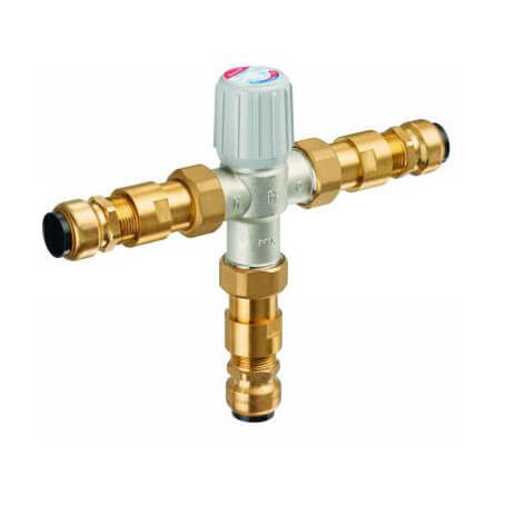 "1"" Union Push Connect Mixing Valve, 3.9 Cv (Lead Free) Product Image"