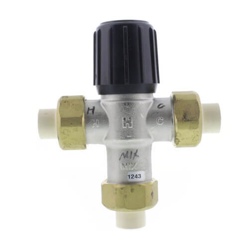 """1/2"""" Union CPVC Lead Free Mixing Valve (70-120F) Product Image"""