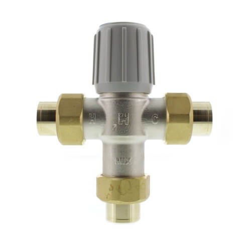 "3/4"" Union Sweat Mixing Valve, 70-120 F (Lead Free) Product Image"