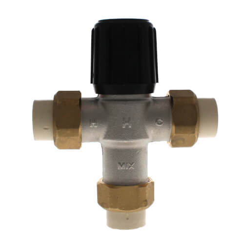 """3/4"""" Union CPVC Lead Free Mixing Valve (70-120F) Product Image"""