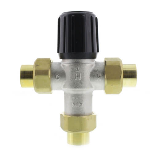 "3/4"" Union Sweat Mixing Valve, 80-180 F (Heating Only) Product Image"