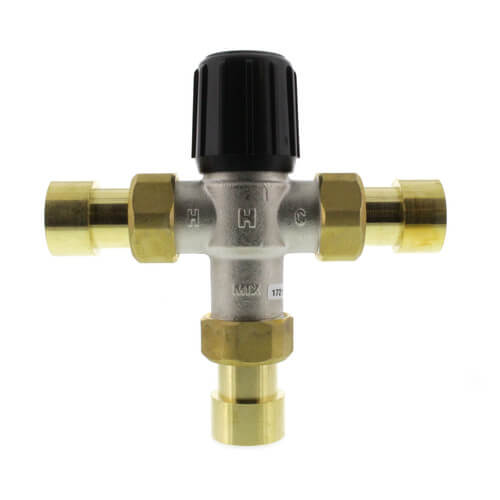 "1"" Union Sweat Mixing Valve, 70-180 F (Heating Only) Product Image"