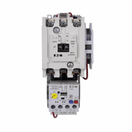 Motor Control Starter, NEMA Full-Voltage, Non-Reversing, 27A, 120/110V, 3P, Size 1, 60/50 Hz Product Image