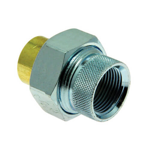 """3/4"""" NPT x 3/4"""" Tube Dielectric Union Product Image"""