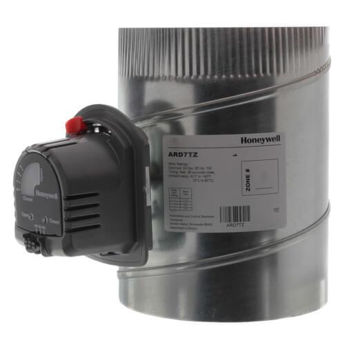 "7"" Round Automatic TrueZONE Damper Product Image"