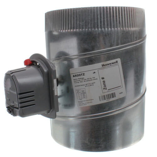 "9"" Round Automatic TrueZONE Damper Product Image"