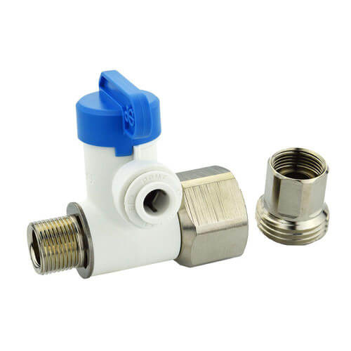 """1/2"""" NPS x 3/8"""" COMP x 1/4"""" OD Speedfit Angle Stop Adapter Valve Product Image"""