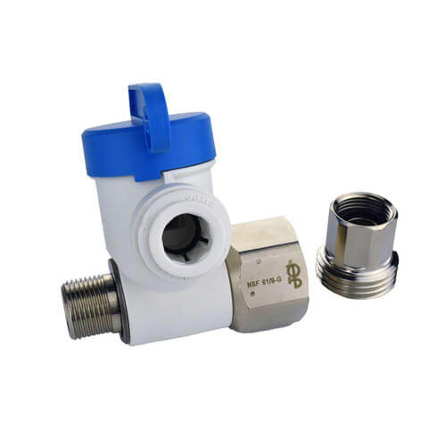 """1/2"""" NPS x 3/8"""" COMP x 3/8"""" OD Speedfit Angle Stop Adapter Valve Product Image"""