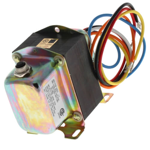 Plate or panel mounted 120/208/240 Vac Transformer with 9 in. lead wires and metal end bells Product Image
