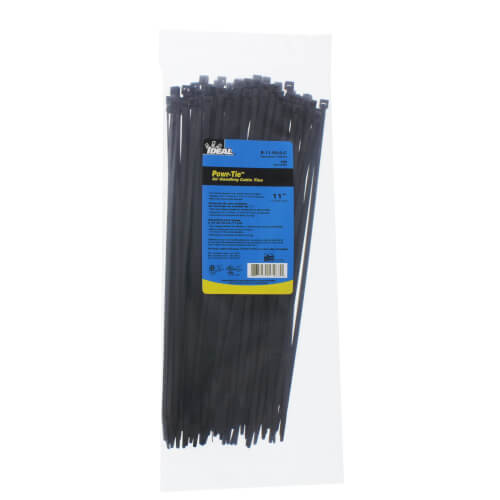 """Buchanan Multi-Purpose Heavy-Duty Cable Tie, 11"""" UV Black (Pack of 100) Product Image"""