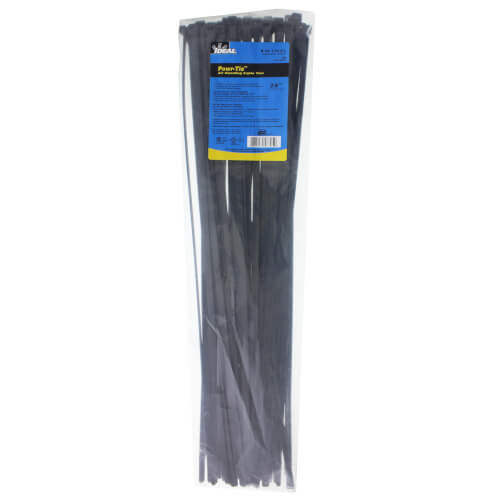 """Buchanan Multi-Purpose Heavy-Duty Cable Tie, 24"""" UV Black (Pack of 50) Product Image"""