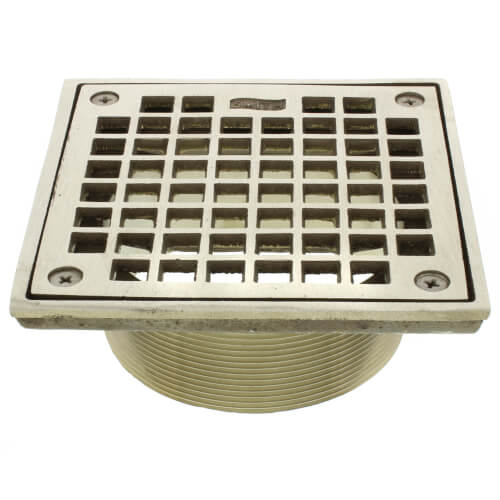 B05nb Jay R Smith B05nb 5 Square Floor Drain Grate And Screws Nickel Bronze